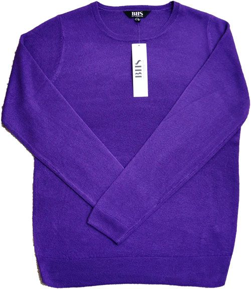 Bhs Crew Neck Sweater Purple