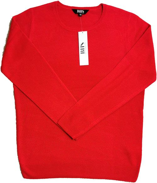 Bhs Crew Neck Sweater Red