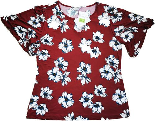 Short Sleeve Classic Top Red