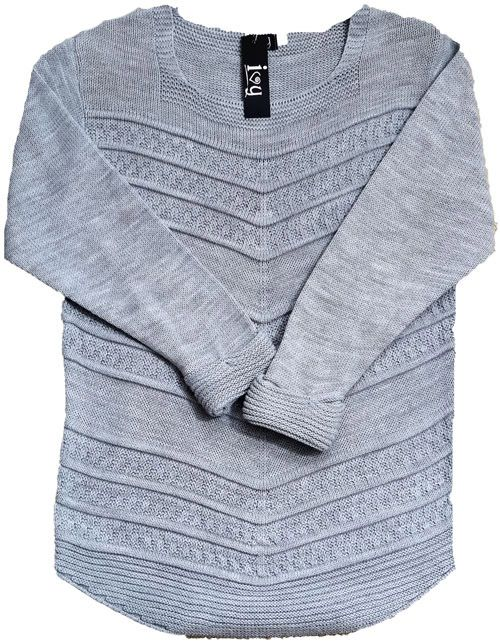 Chunky Knit Sweater Grey