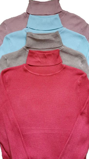 Ex Chain Store Rib Polo Neck